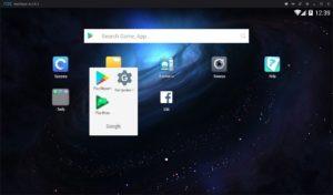 Главная страница эмулятора Nox App Player.